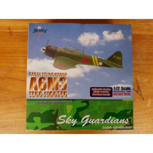 Witty wings A6M3 Zero Sen Rabul flying group diecast 1/72
